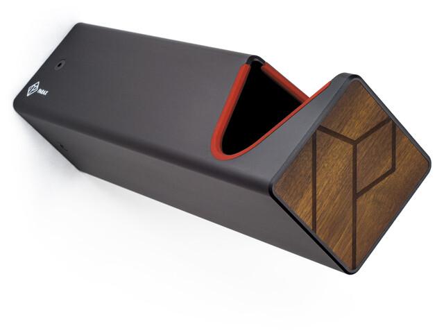 PARAX D-Rack Wall Mount Aluminium with Wooden Front, negro/marrón